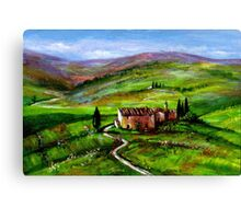 TUSCANY LANDSCAPE WITH GREEN HILLS Canvas Print
