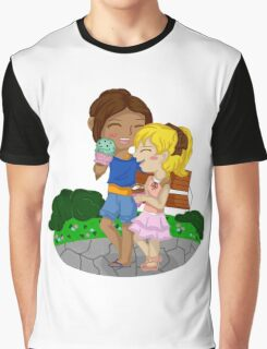 Ymir and Christa (Historia) Ice cream date Graphic T-Shirt