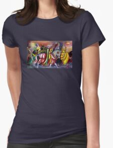 RIDERS IN THE NIGHT Womens Fitted T-Shirt