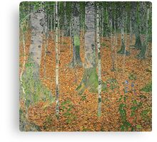 Gustav Klimt - The Birch Wood -  Klimt -Birch Trees  Canvas Print