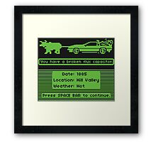 The Delorean Trail Framed Print