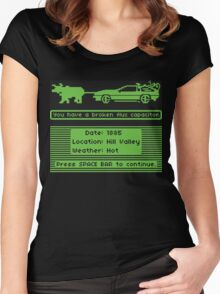 The Delorean Trail Women's Fitted Scoop T-Shirt