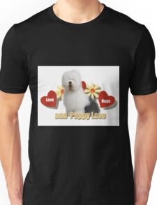 Old English Sheepdog Love Unisex T-Shirt