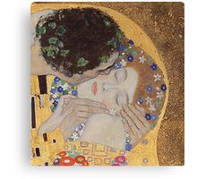 Gustav Klimt - The Kiss - Klimt - The Kiss Canvas Print