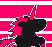 pink sunset lines stripes sun unicorn girl sweet cute little pony horse riding gallop jump Sticker