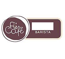 Barista Badge Photographic Print