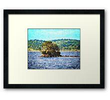 Tiny Island of The Big Lake Framed Print