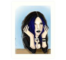 Elvira Semi Realist Art Print