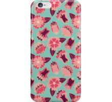 flat flowers iPhone Case/Skin