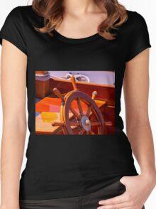Wooden Wheel Women's Fitted Scoop T-Shirt