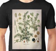 Köhler's Medizinal Pflanzen in naturgetreuen Abbildungen mit kurz erläuterndem Texte  Atlas zur Pharmacopoea 1883 1914 V1 054 Juniper Juniperus Communis Unisex T-Shirt