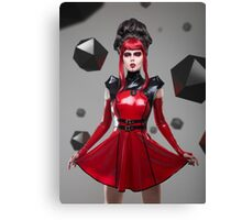 Dead Lotus Couture Red Canvas Print