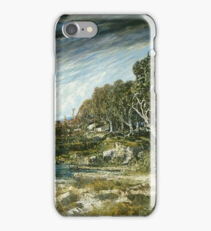Vintage famous art - Gustave Courbet - The Gust Of Wind,  1865 iPhone Case/Skin