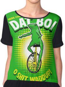 Here Come Dat Boi T-Shirt Chiffon Top