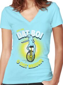 Here Come Dat Boi T-Shirt Women's Fitted V-Neck T-Shirt