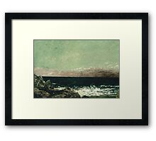 Vintage famous art - Gustave Courbet - The Mediterranean Framed Print