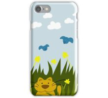 Cat Looking For Mole iPhone Case/Skin