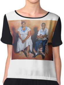 Ella Fitzgerald & Louis Armstrong Chiffon Top