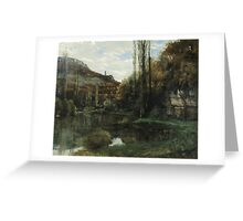 Vintage famous art - Gustave Courbet - The Mirror On The River Loue At Scey-En-Varais, Near Ornans Greeting Card
