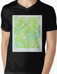 USGS TOPO Map Alabama AL Crane Hill 303603 1969 24000 Mens V-Neck T-Shirt