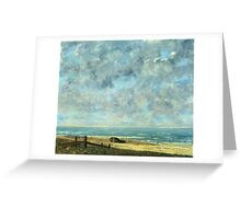 Vintage famous art - Gustave Courbet - The Sea Greeting Card