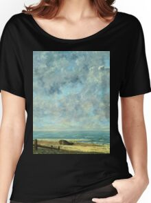 Vintage famous art - Gustave Courbet - The Sea Women's Relaxed Fit T-Shirt