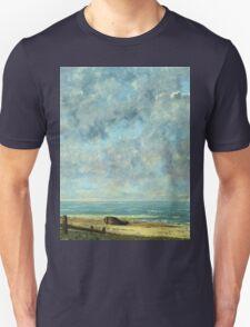 Vintage famous art - Gustave Courbet - The Sea Unisex T-Shirt
