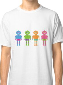 Colourful Cartoon Robots Classic T-Shirt