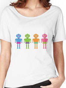 Colourful Cartoon Robots Women's Relaxed Fit T-Shirt
