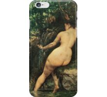 Vintage famous art - Gustave Courbet - The Source Or Bather At The Source iPhone Case/Skin