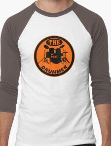 The Best Drummer orange black Men's Baseball ¾ T-Shirt