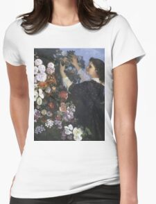 Vintage famous art - Gustave Courbet - The Trellis Womens Fitted T-Shirt