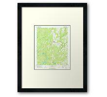 USGS TOPO Map Alabama AL Addison 303076 1969 24000 Framed Print