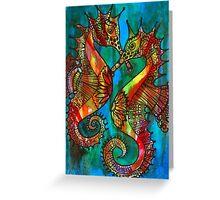 Seahorses - Kerry Beazley Greeting Card