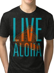 Live Aloha Shaka II #hepuakiko Tri-blend T-Shirt