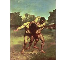 Vintage famous art - Gustave Courbet - The Wrestlers Photographic Print