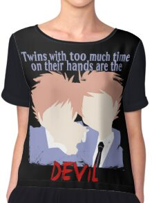 Twins with too much time on their hands Chiffon Top