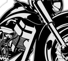 Cartoon Motorbike Sticker