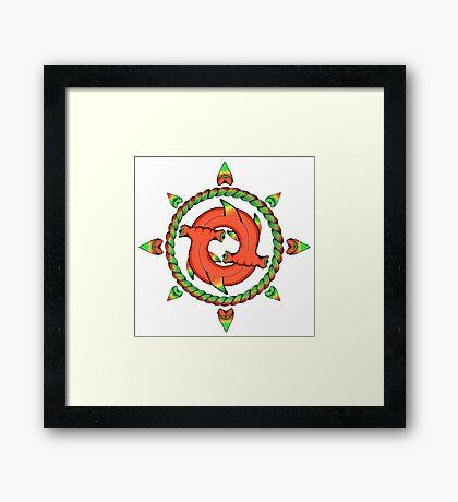 Shark Compass  Framed Print
