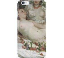 Vintage famous art - Gustave Courbet - Bathers Or Two Nude Women iPhone Case/Skin
