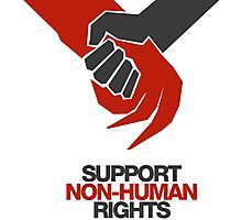 DISTRICT 9 SUPPORT NON-HUMAN RIGHTS Photographic Print