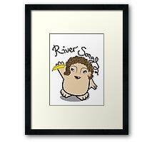 Dr Who River Song Adipose Framed Print