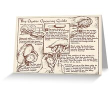 Oyster Opening Guide Greeting Card