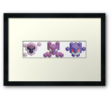 Ghastly Evolution Line, Pokemon Framed Print