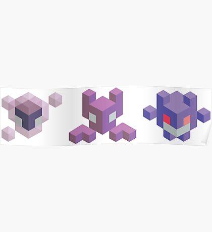 Ghastly Evolution Line, Pokemon Poster