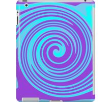 Blue and purple swirl design iPad Case/Skin
