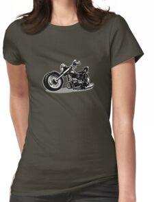 Cartoon Motorbike Womens Fitted T-Shirt