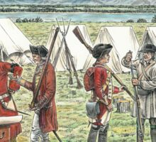 British Troops at the Battle of Quebec 1759 Sticker