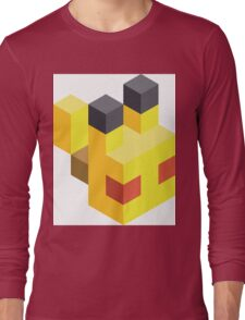 Pikachu Voxel Long Sleeve T-Shirt