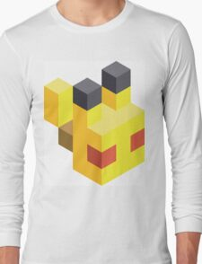 Pikachu Voxel Long Sleeve T-Shirt